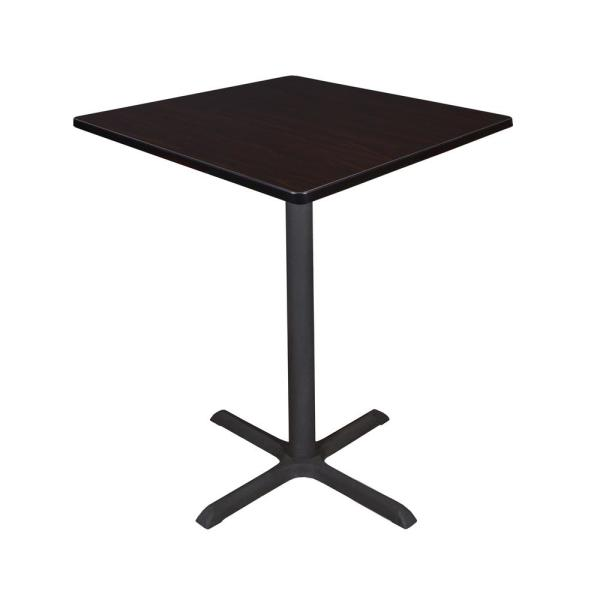 Regency Cain Mocha Walnut 36 in. Square Cafe Table