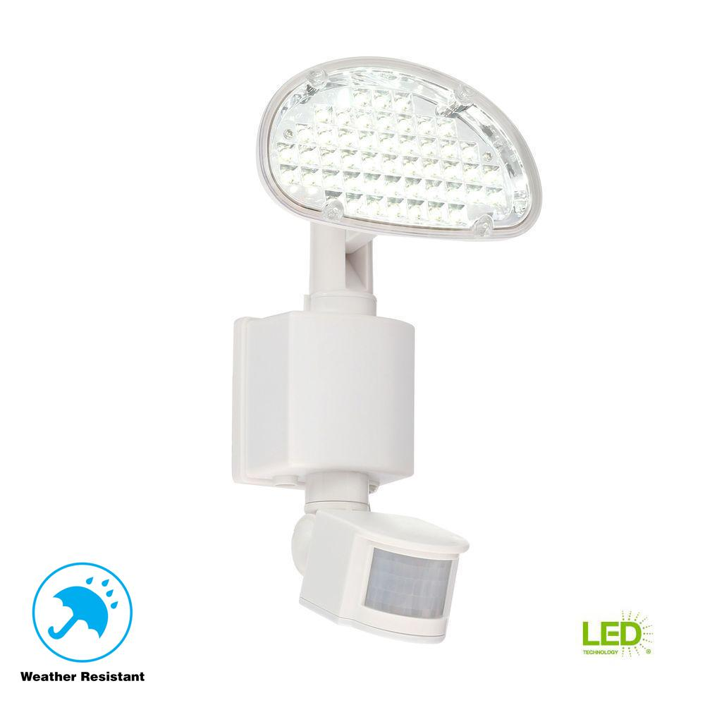 Defiant Solar 48 Light 180 Degree White Motion Activated Outdoor Integrated  LED Area Light