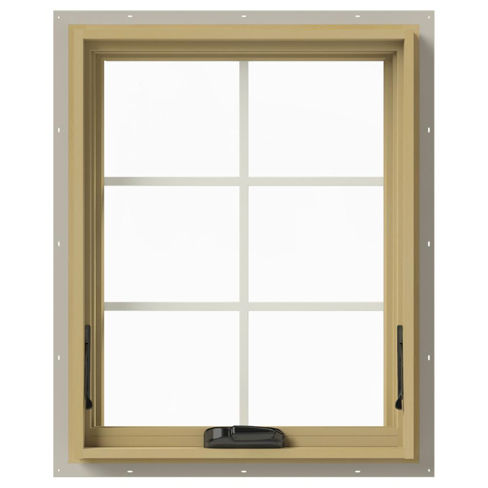Jeld Wen 36 In X 30 In W 2500 Series Desert Sand Painted