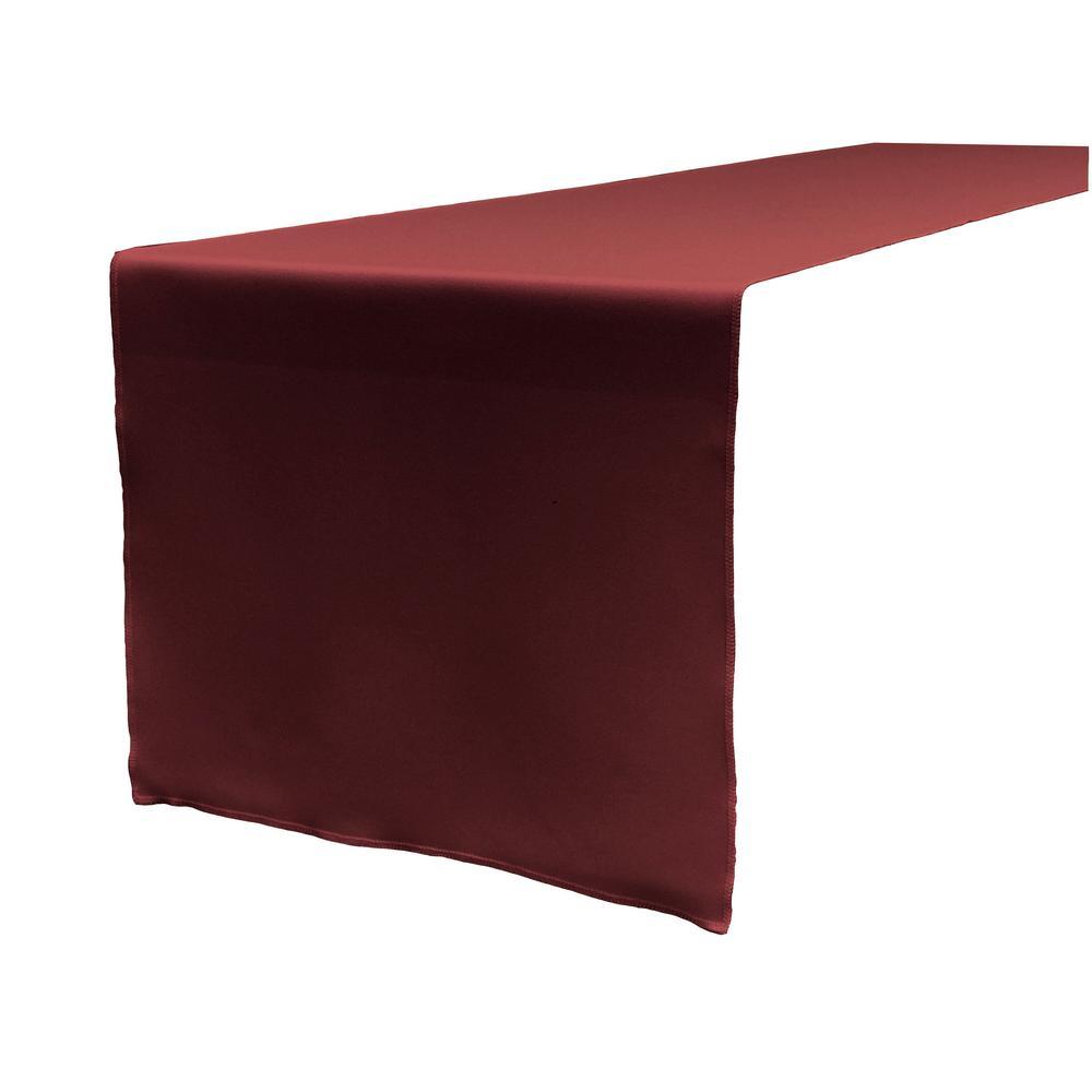 Burgundy Polyester Poplin Table Runner