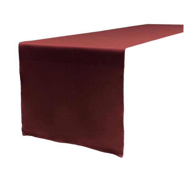 Incroyable Burgundy Polyester Poplin Table Runner