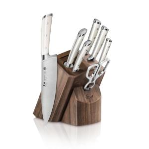 Click here to buy Cangshan S1 Series German Steel Forged 8-Piece Knife Block Set in Walnut by Cangshan.