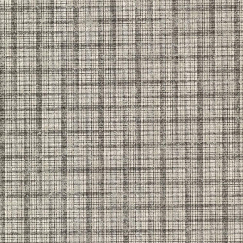 Sadie Grey Cottage Plaid Wallpaper