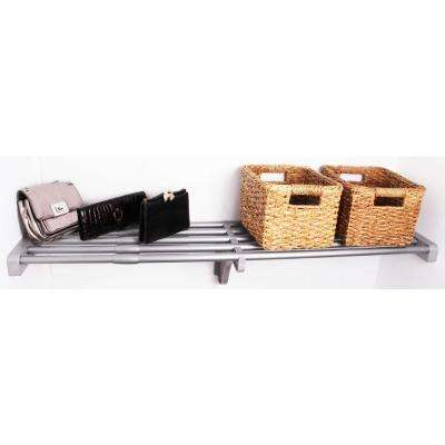 40 in. - 73 in. Expandable Shelf in Silver