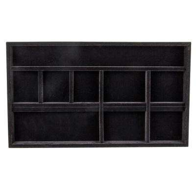 14 in. x 24 in. Black Jewelry Tray