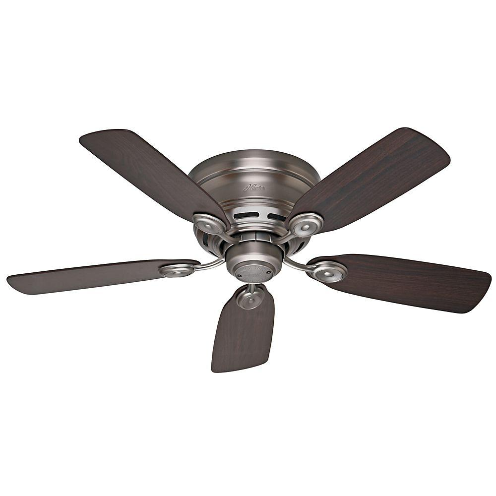 hunter low profile iv 42 in. indoor antique pewter ceiling fan