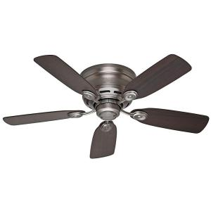 Hunter low profile iv 42 in indoor antique pewter ceiling fan hunter low profile iv 42 in indoor antique pewter ceiling fan 51060 the home depot aloadofball Images