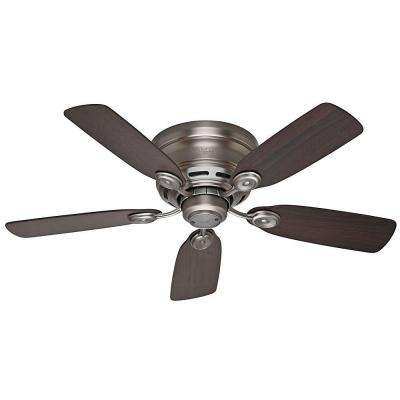 Low Profile IV 42 in. Indoor Antique Pewter Ceiling Fan Bundled with Handheld Remote Control