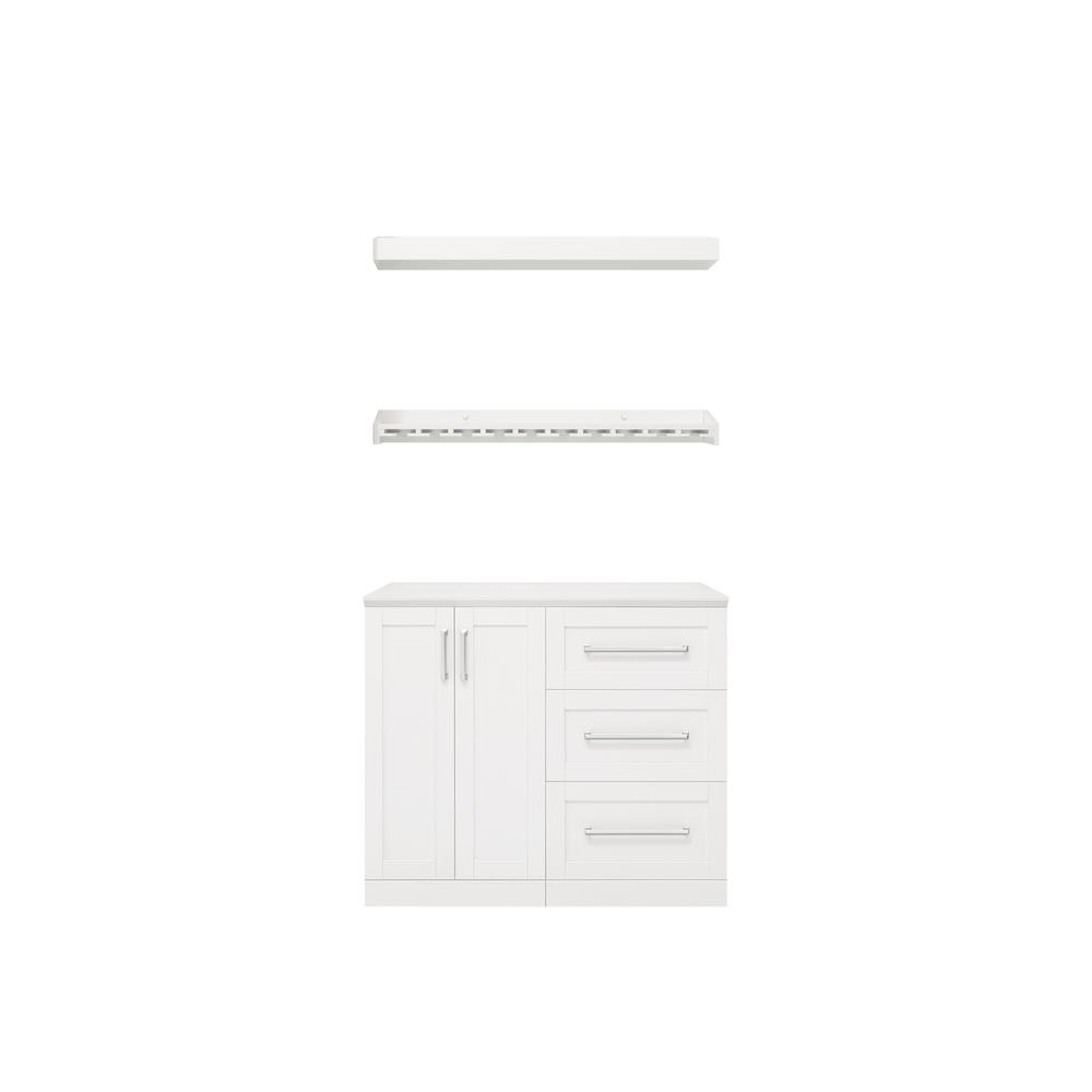 NewAge Products Home Bar 21 in. White Cabinet Set (5-Piece) was $1459.99 now $999.99 (32.0% off)
