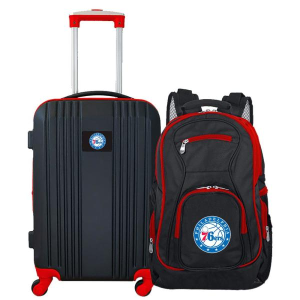 Mojo NBA Philadelphia 76ers 2-Piece Set Luggage and Backpack NBSEL108