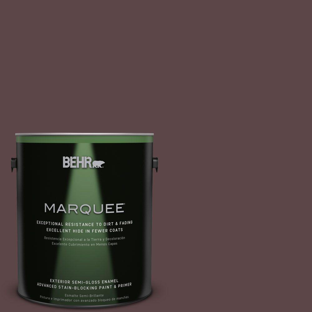 1-gal. #BNC-31 Mahogany Spice Semi-Gloss Enamel Exterior Paint