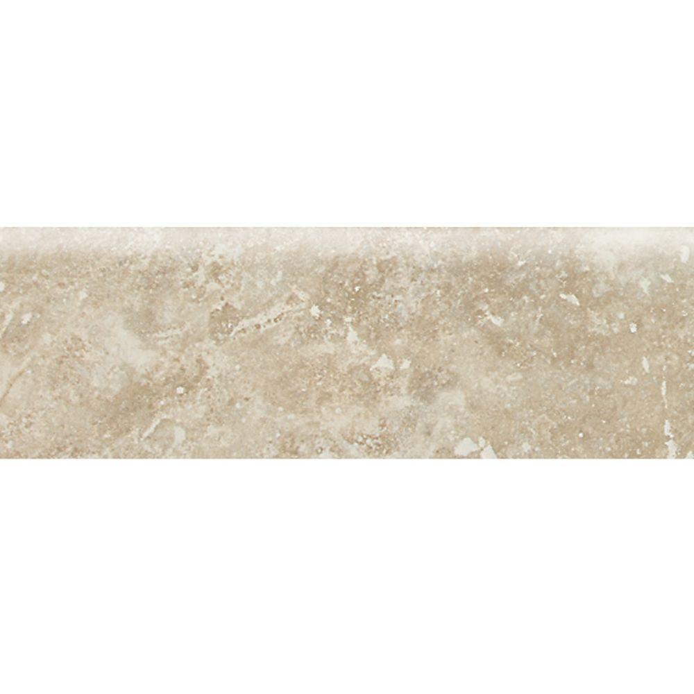 Daltile Heathland White Rock 3 In X 9 Glazed Ceramic Bullnose Wall Tile