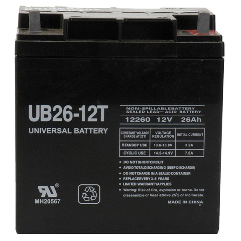 UPG SLA 12-Volt 26 Ah T3 Terminal Battery