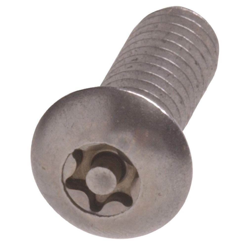 #6-32 x 3/4 in. Pin-In-Head Star Button-Head Security Machine Screw (15-Pack)