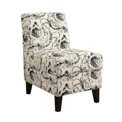 Ollano II Floral Pattern Accent Chair with Storage