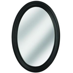 Erias Home Designs Napoli 31 in. L x 21 in. W Framed Oval Mirror ...