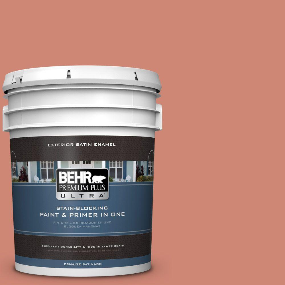 BEHR Premium Plus Ultra 5-gal. #210D-5 Copperleaf Satin Enamel Exterior Paint