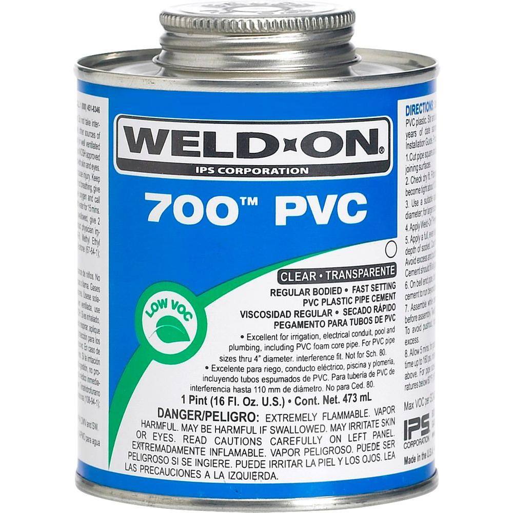 Weld On 16 Oz Pvc 700 Low Voc Cement Clear 10080 The
