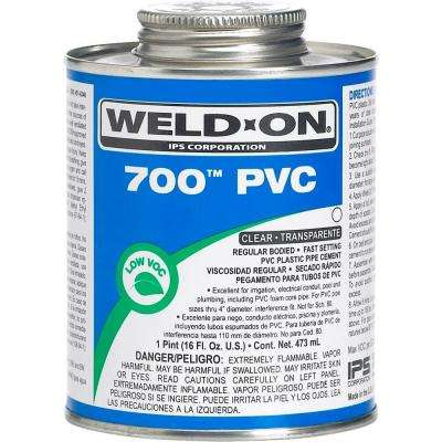 16 oz. PVC 700 Low VOC Cement in Clear