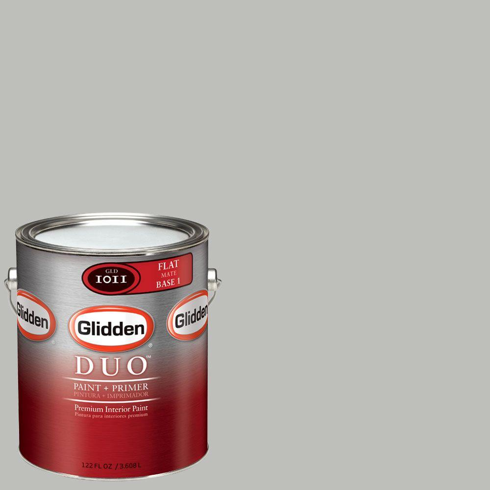 Glidden DUO Martha Stewart Living 1-gal. #MSL265-01F Driftwood Gray Flat Interior Paint with Primer-DISCONTINUED