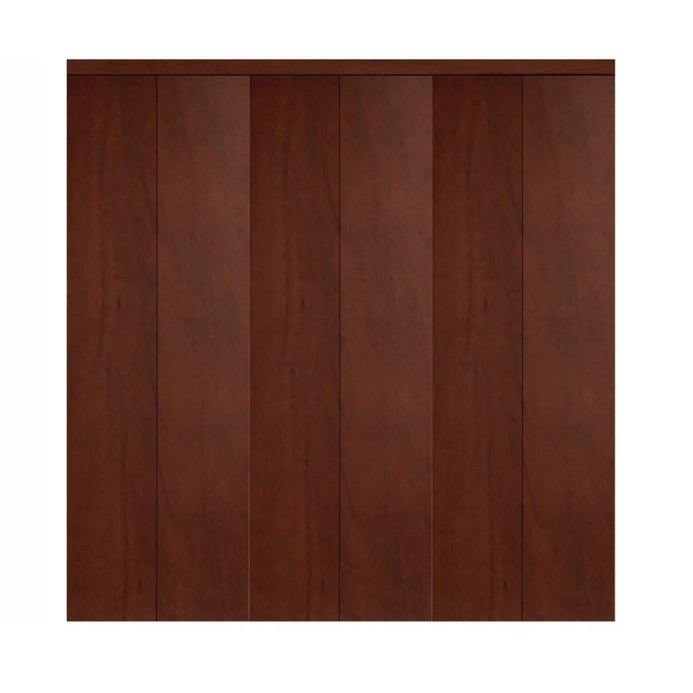 102 in. x 80 in. Smooth Flush Cherry Solid Core MDF