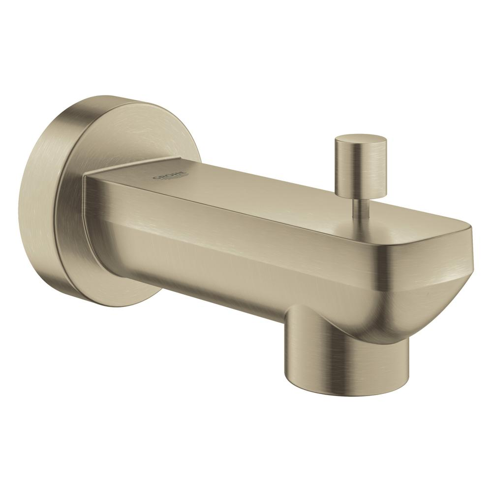 Lineare Wall Mount Tub Spout Trim Kit with Diverter in Brushed