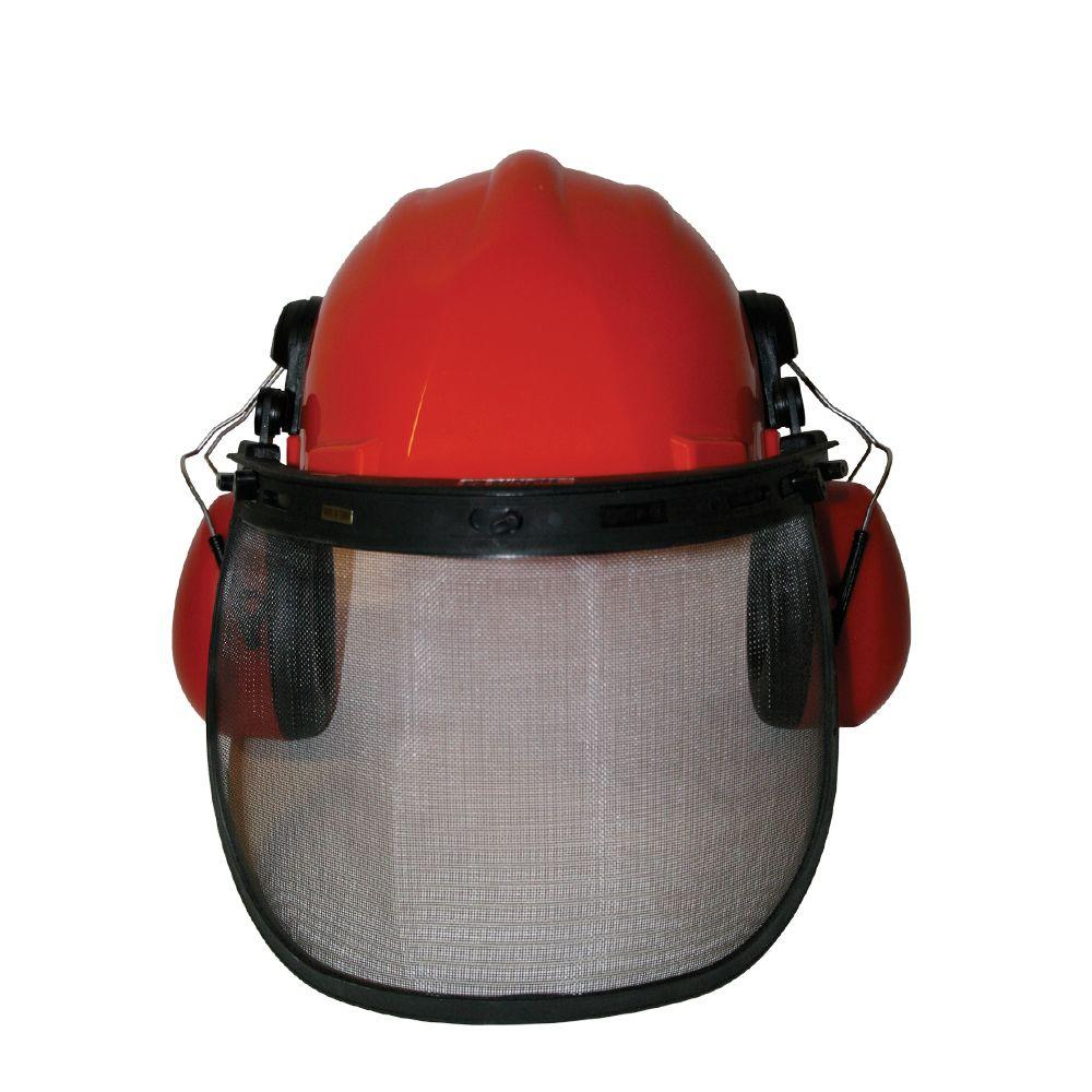 Power Care Safety Helmet with Eye and Ear Guard