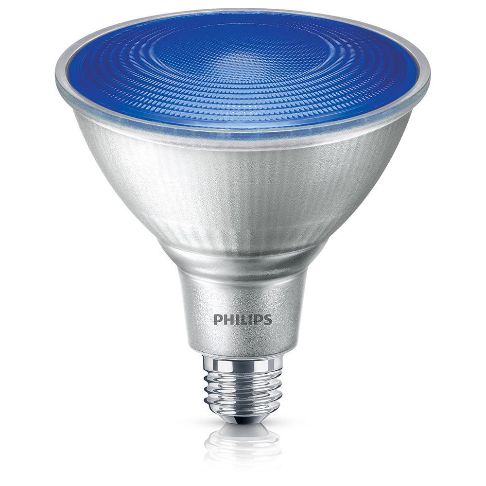 philips 90 watt equivalent par 38 led flood blue 469072 the home depot. Black Bedroom Furniture Sets. Home Design Ideas