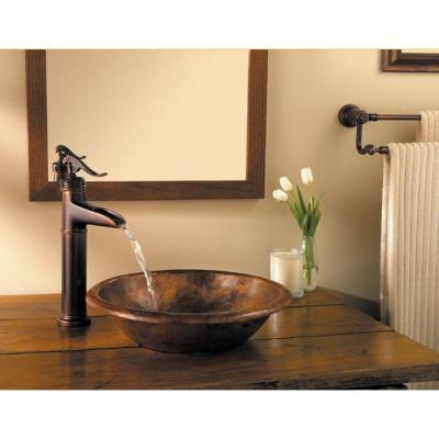 Ashfield Single Hole Single-Handle Vessel Bathroom Faucet in Rustic Bronze