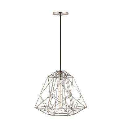 Ani 1-Light Polished Nickel Pendant