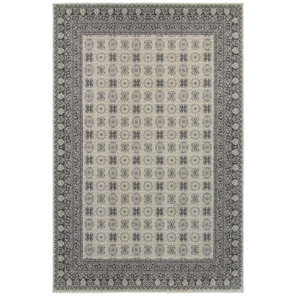 Radley Ivory/Grey 4 ft. x 6 ft. Border Area Rug