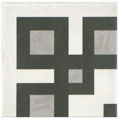 Twenties Corner 7-3/4 in. x 7-3/4 in. Ceramic Floor and Wall Tile
