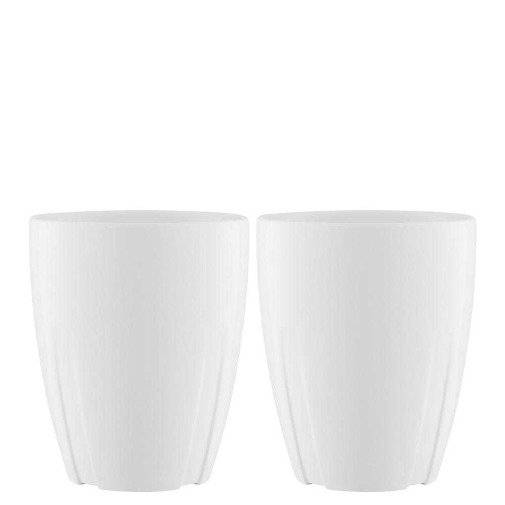 Bruk 11.6 oz. Porcelain Mug with Oak Lid (Set of 2)