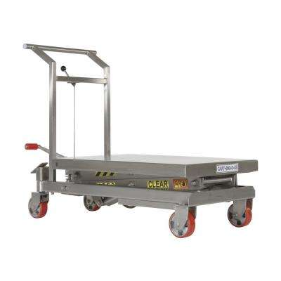 800 lb. Capacity Stainless Steel Double Scissor Cart