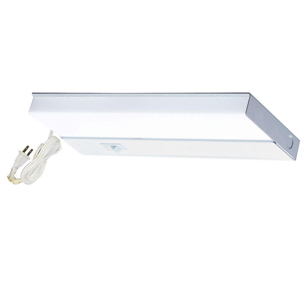 Aspects 21 in. 1-Light Fluorescent White Linkable T5 Under Cabinet Light