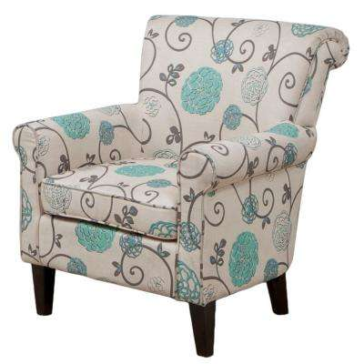 Roseville Floral Fabric Club Chair