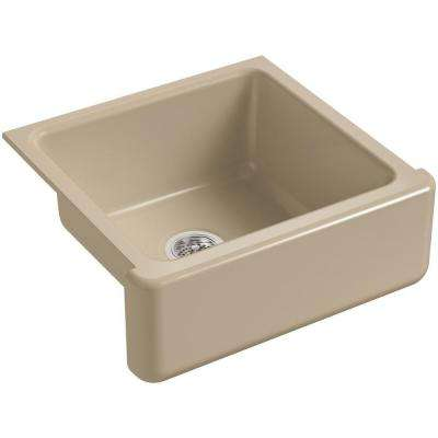Whitehaven Farmhouse Apron-Front Cast Iron 24 in. Single Basin Kitchen Sink in Mexican Sand