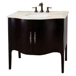 Bellaterra Home Pallazo II 36-6/10 inch W x 36 inch H Single Vanity in Espresso with... by Bellaterra Home