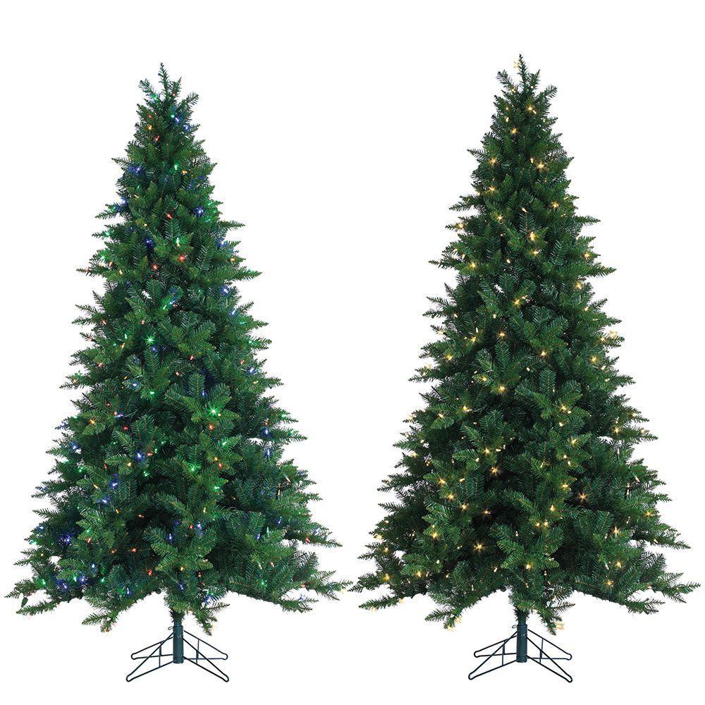 GE 7.5 ft. Just Cut Noble Fir EZ Light Artificial Christmas Tree ...