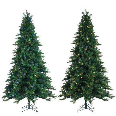 7.5 ft. Pre-Lit Oakland Spruce Artificial Christmas Tree with LED Dual Function Lights