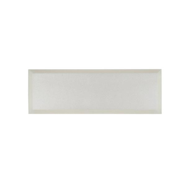 Luster White 4 in. x 12 in. Glossy Glass Wall Tile (1 sq. ft./Pack)