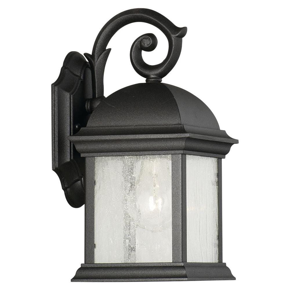 Thomas Lighting Calais Wall-Mount 1-Light Outdoor Black Lantern-DISCONTINUED