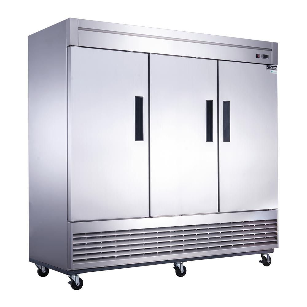 Dukers 64.8 cu. Ft. 3-Door Commercial Refrigerator in Stainless Steel