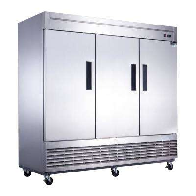 64.8 cu. Ft. 3-Door Commercial Refrigerator in Stainless Steel