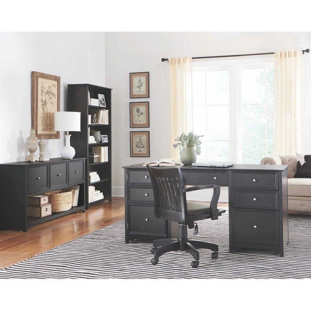 Home Decorators Collection Oxford Black Desk 0151200210 The Home Depot
