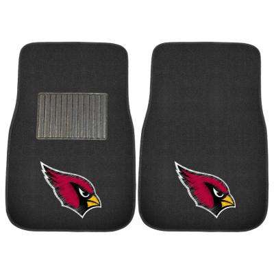 NFL - Arizona Cardinals 17 in. x 25.5 in. 2-Piece Set of Embroidered Car Mat