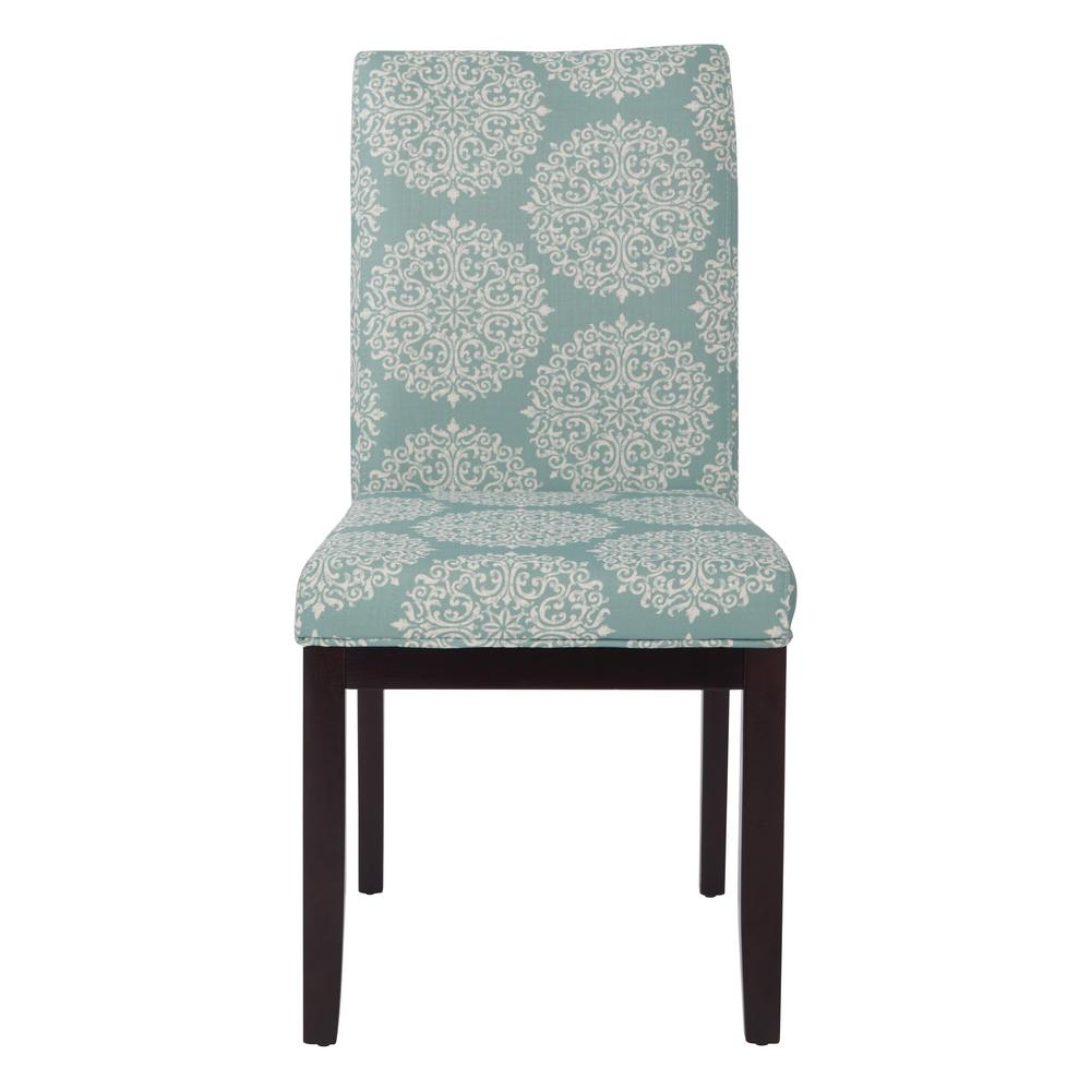 Ave Six Gabrielle Sky Fabric Dakota Parsons Chair