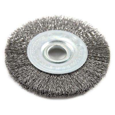 3 in. x 1/2 in. Arbor Fine Crimped Wire Wheel Brush