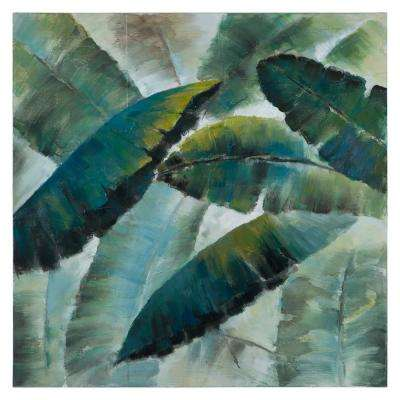 40 in. H x 40 in. W Sway in the Tropics II Original Hand Painted Wall Art in Canvas