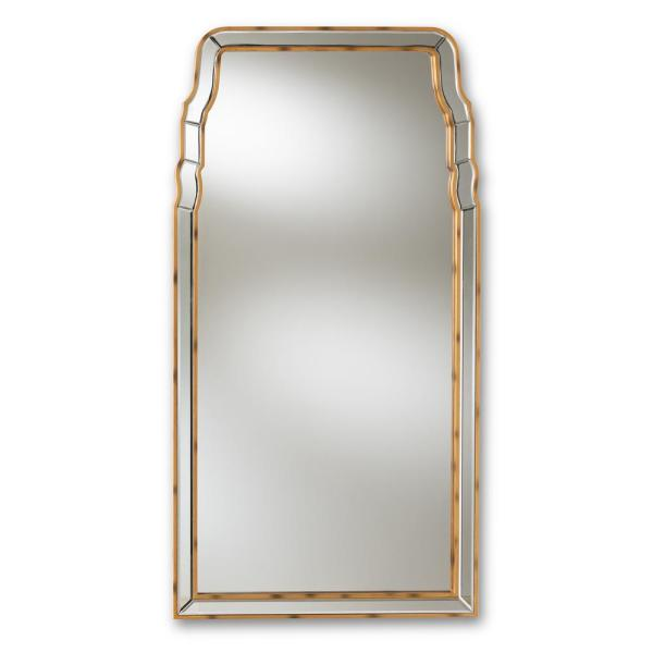 Large Rectangle Antique Gold Contemporary Mirror (50 in. H x 26 in. W)
